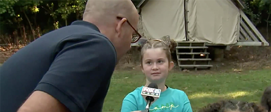 Fox 6 Visits Camp Alice Chester